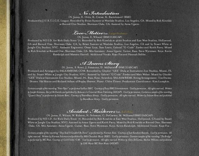Album Booklet & Production Credits Revealed For Nas'