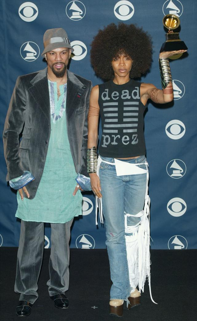 erykah badu and common at the grammys