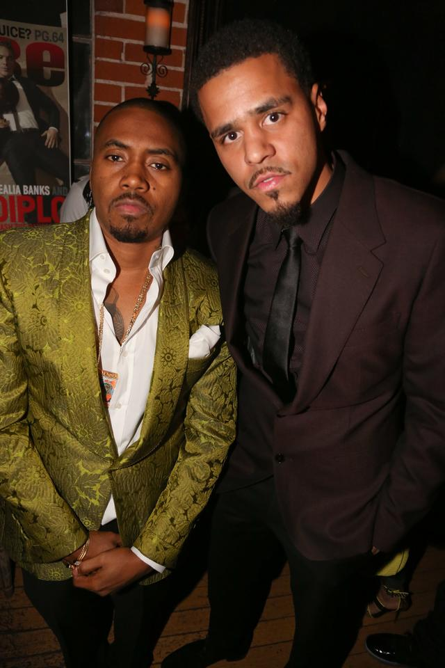 J. Cole and Nas in 2014