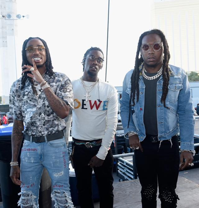 Migos backstage at iHeart Radio Music Festival