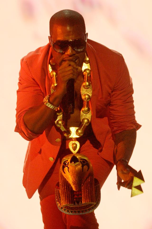 Kanye West with Horus chain