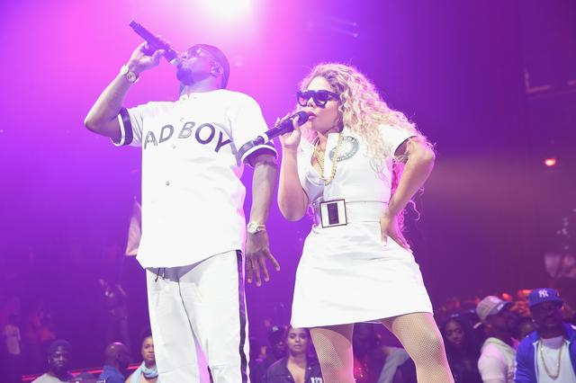 Lil Kim and Diddy at Bad Boy reunion