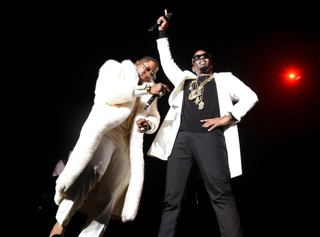 Mase and Diddy at Bad Boy reunion tour