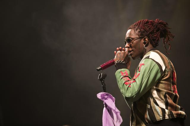 Young Thug performing at Longitude Festival