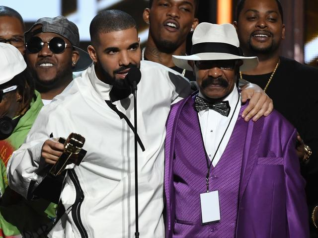 Drake and his dad on stage together