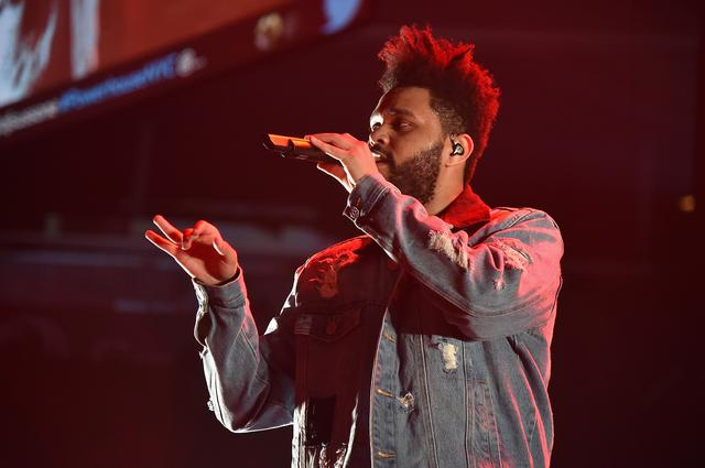 The Weeknd performs onstage during 105.1's Powerhouse 2017 at the Barclays Center on October 26, 2017 in the Brooklyn, New York City City.