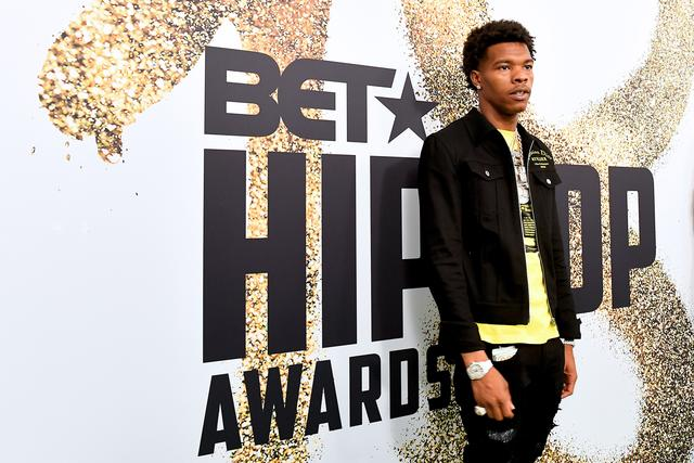 Lil Baby on the red carpet at the BET Hip Hop Awards