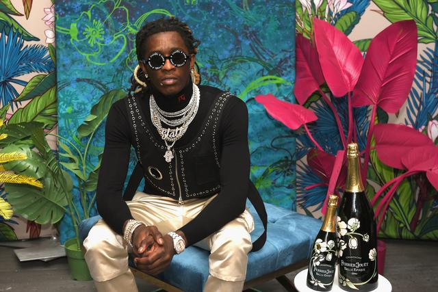 Young Thug performing at Miami Beach