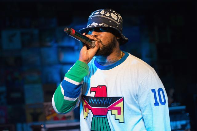 Schoolboy Q performs during the BET Music Matters Showcase at SXSW at Brazos Hall on March 14, 2013 in Austin, Texas.