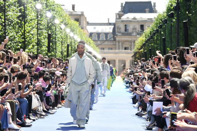 Kid Cudi on Louis Vuitton runway