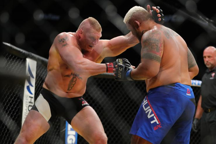 Brock Lesnar Fighting