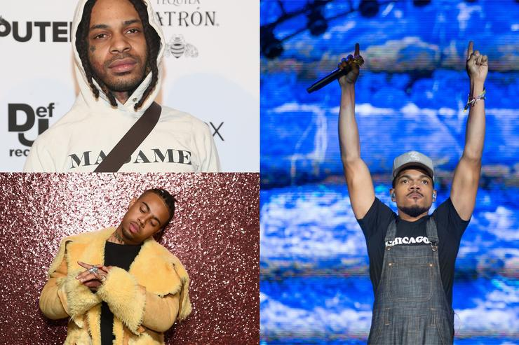 Valee (top left), Vic Mensa (bottom left), Chance the Rapper