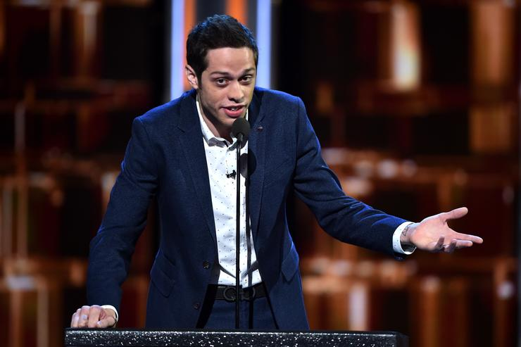 Pete Davidson on stage at The Comedy Central Roast of Rob Lowe