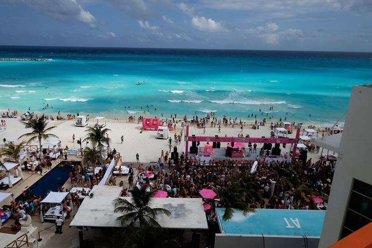 Cancun beach party