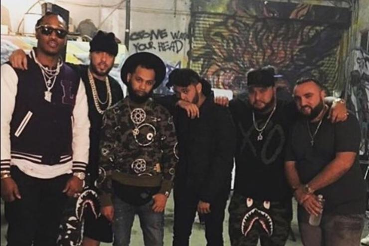 "On set of Future & The Weeknd's ""Low Life"" video"