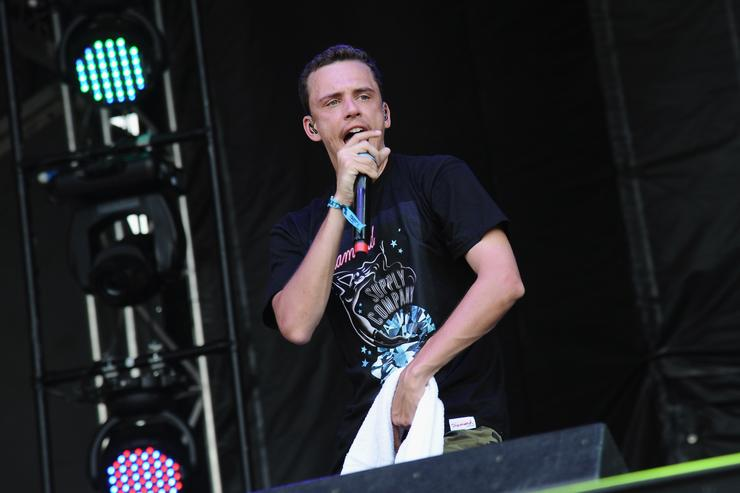 Rapper Logic performs onstage during day 2 of the Firefly Music Festival on June 19, 2015 in Dover, Delaware.