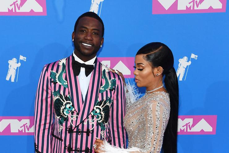 Gucci Mane and Keyshia Ka'Oir attend the 2018 MTV Video Music Awards at Radio City Music Hall on August 20, 2018 in New York City.