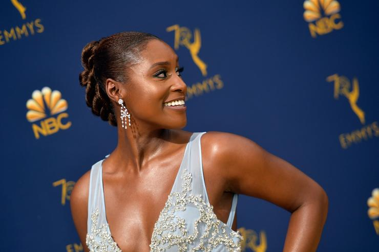 Issa Rae attends the 70th Emmy Awards at Microsoft Theater on September 17, 2018 in Los Angeles, California